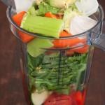 Avocado vegetable soup in Vitamix pitcher