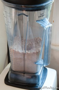 Wheat grinding in Vitamix