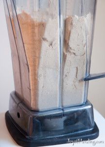 Ground Flour in Vitamix
