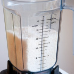 Shredded coconut in Vitamix
