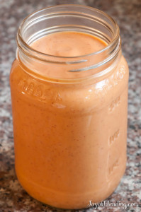 Sweet potato cranberry smoothie