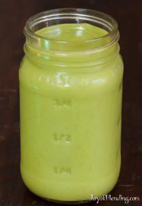 Mango Kiwi Cilantro smoothie