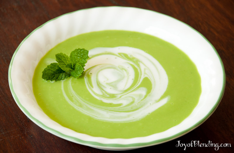 Cool mint pea soup - Joy of Blending