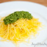 Vitamix Pesto on Spaghetti Squash