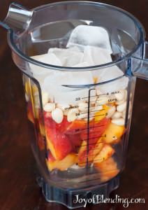 Peach Smoothie Ingredients in Container