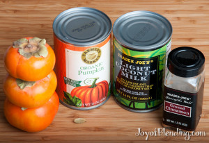 New pumpkin smoothie ingredients
