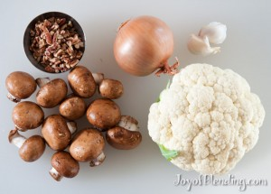 Mushroom Cauliflower Soup Ingredients