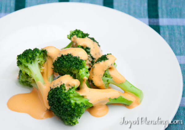 Broccoli with Tangy Vitamix Cashew Sauce