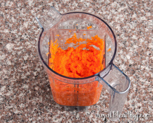 Blended Carrots in Vitamix