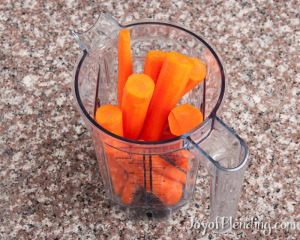 Carrots in Vitamix