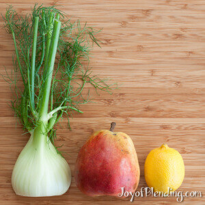 Fennel Smoothie Ingredients