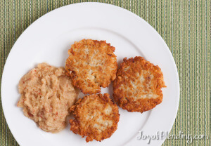 Vitamix Latkes and Applesauce