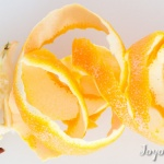 Orange peel and apple core