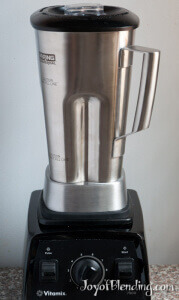 Stainless Steel Waring container on Vitamix