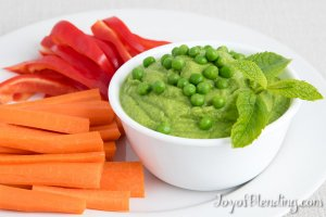 Mint Pea Dip served with crudités