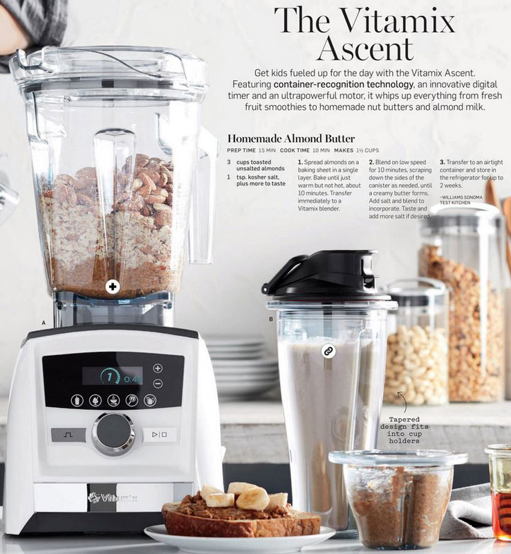 Joy of blending vitamix and blendtec blender recipes and tips the current williams sonoma catalog includes a vitamix almond butter recipe in a beautiful ascent series spread as i read it i kept finding more and more forumfinder Choice Image