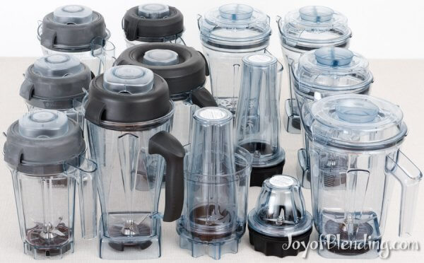 All (13!) current home Vitamix containers