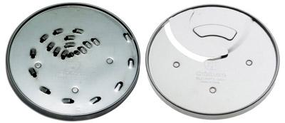 Food processor shredding and slicing discs