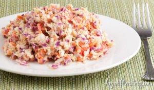 Vitamix-chopped cabbage salad