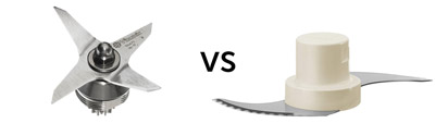 Vitamix blade vs food processor blade